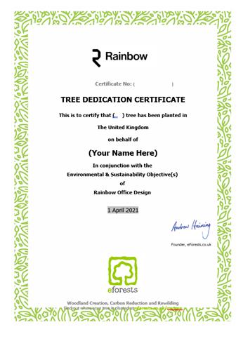 An example e-certificate
